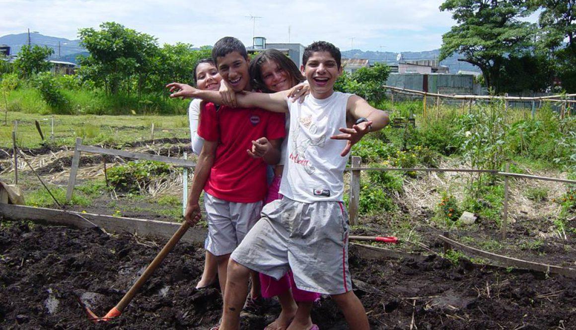 コスタリカの学校農園